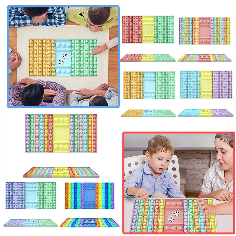 2021 Big Taille Fidget Toys Poussez Bulle pour SchoolBag Parti de Parti Pendentif Adulte Soulagement Adulte Soulagement Toy Family Table Jeux