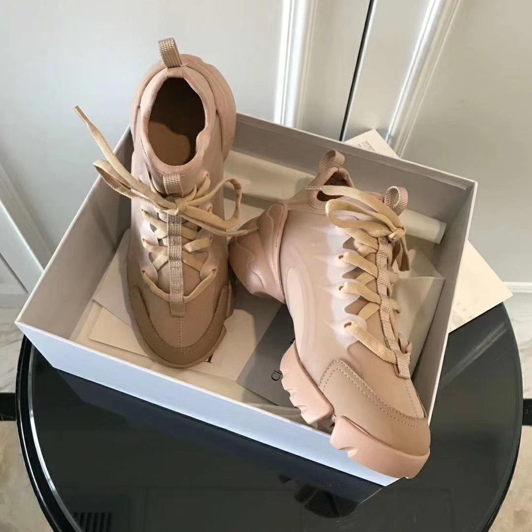 مصمم رينغون الربيع والصيف عارضة أحذية الرجال النساء الرجعية موجة الرياضة سميكة حلول الأحذية حجم 35-42