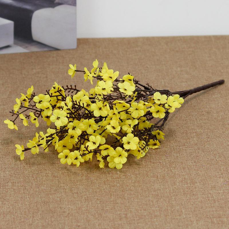 Silk Gypsophila Flores Artificiais para Decoração Home Plástico Haste Noiva Bouquet de Casamento Mariagem Flor De Cerejeira Flor Falsa 2147 v2