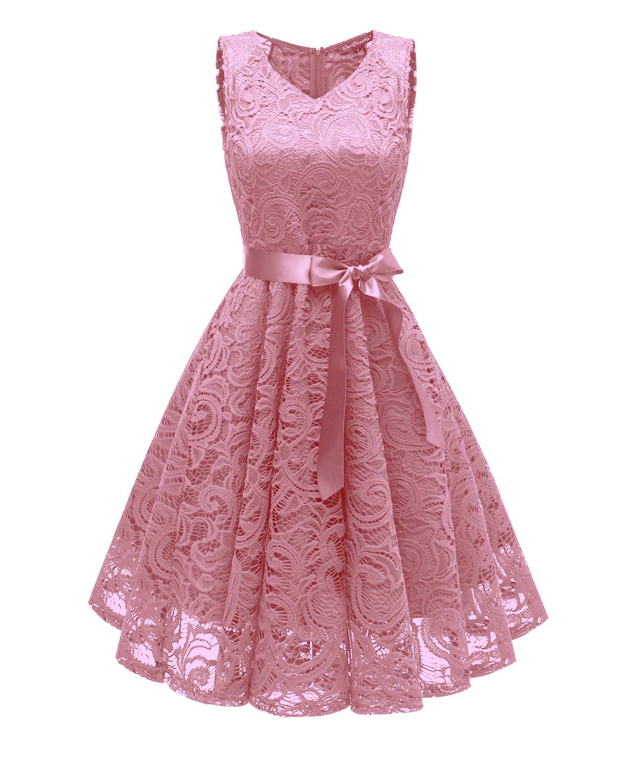 2021 Cuello en V Cuello en stock Vestidos de dama de honor Molel Pictures Longitud de la rodilla Vestido de noche de boda de alta calidad