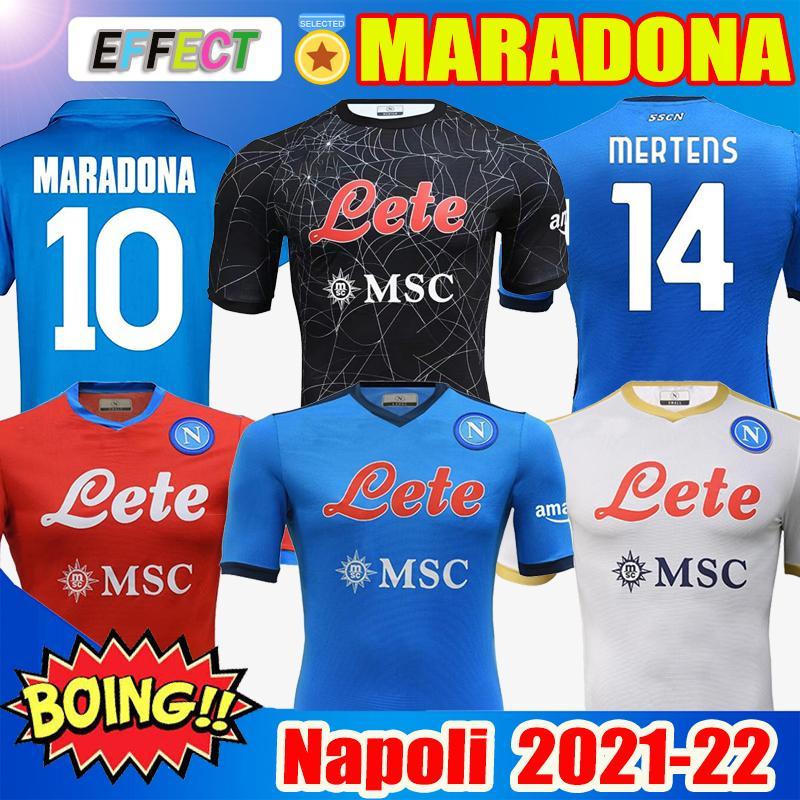 2020 2021 Serie A Neapel Napoli Retro DIEGO Maradona Fußballtrikots 20 21 86 87 88 89 91 93INSIGNE Kids Kit Camiseta Fußballtrikots Soccer Jerseys