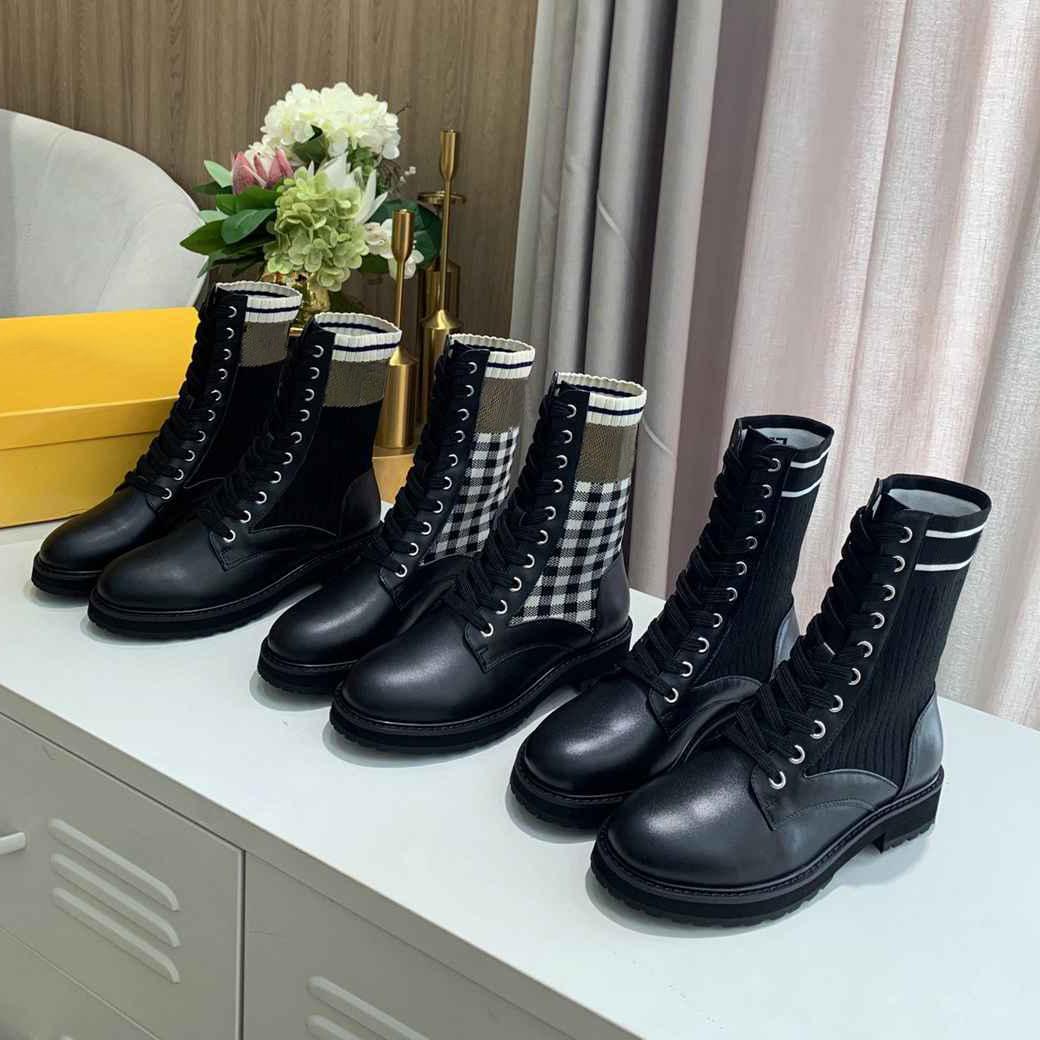 Designer Rockoko Botas Combate Motocycle Sapatos Mulheres tornozelo Martin Botão Malha de Couro Motociclista Estique Tecido Sapato Austrália Inverno Botinhas