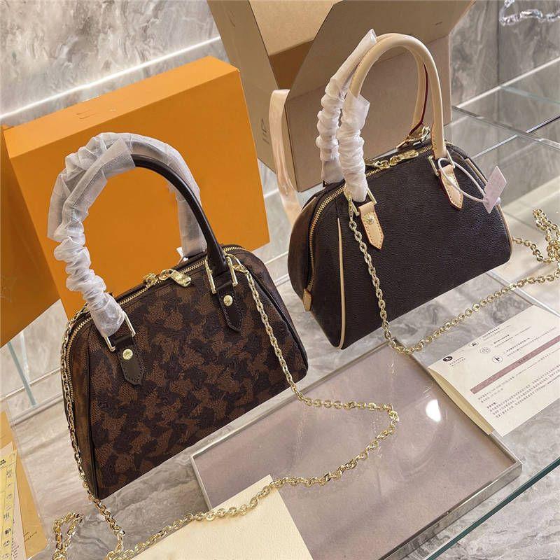 Frauen Handtasche 21ss Vintage Brief Druck stilvoll Neue Ankunft Single Schulter Crossbody Casual Style Dame's Taschen
