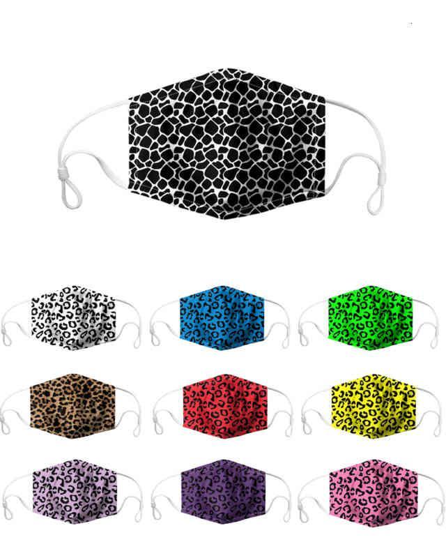 Cartoon Tier gedruckt Leopard Print Wiederverwendbarer Staub Winddicht Masken Party Erwachsene Spaß Fancy Hälfte Gesichtsmaske
