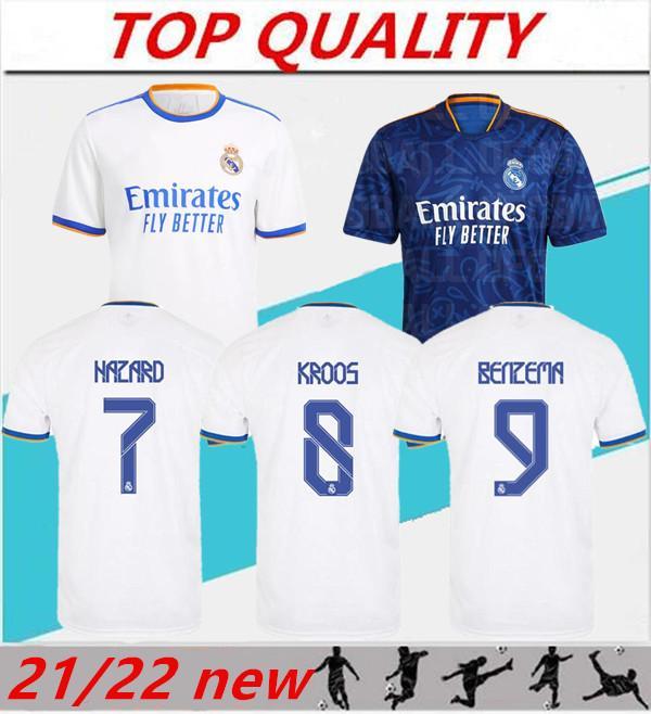2021 2022 Jersey de football de Madrid Real Madrid Benzema Sergio Ramos Home Away 21/22 Camiseta de futbol Chemise de football MODRIC