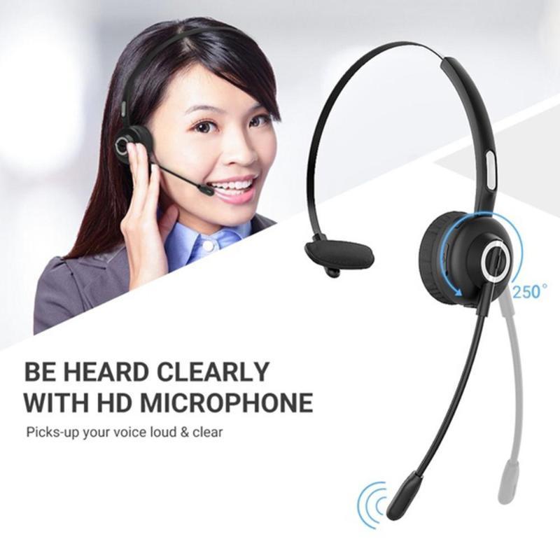 Auriculares Bluetooth inalámbrico Cancelación de ruido Auriculares Micrófonos manos libres para micrófonos de oficina