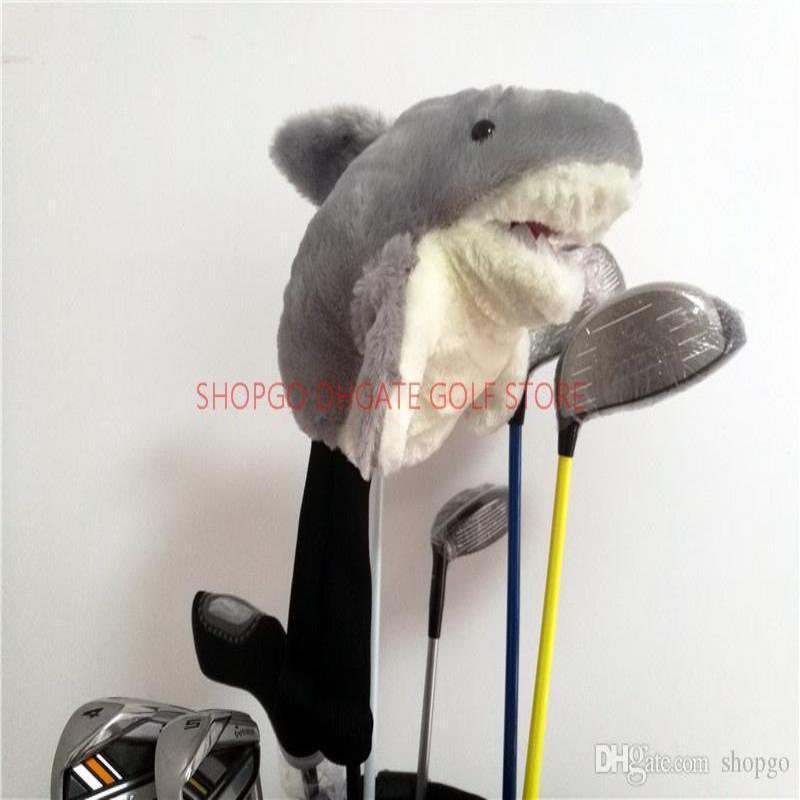 Neuheit Tierhai Seefahrer Cartoon niedlich 460cc Golf Geschenk Head Cover Zubehör Maskottchen Cover Club Golf Ceqnt