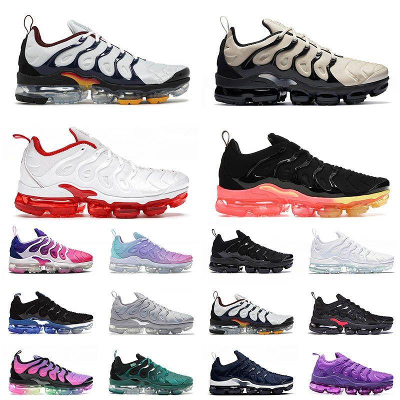 nike air vapormax plus tn off white 2021 Hommes Femmes Chaussures De Course Tout Blanc Noir Royal Platinum Midnight Navy Tns mode Baskets De Plein Air Baskets EUR 36-47