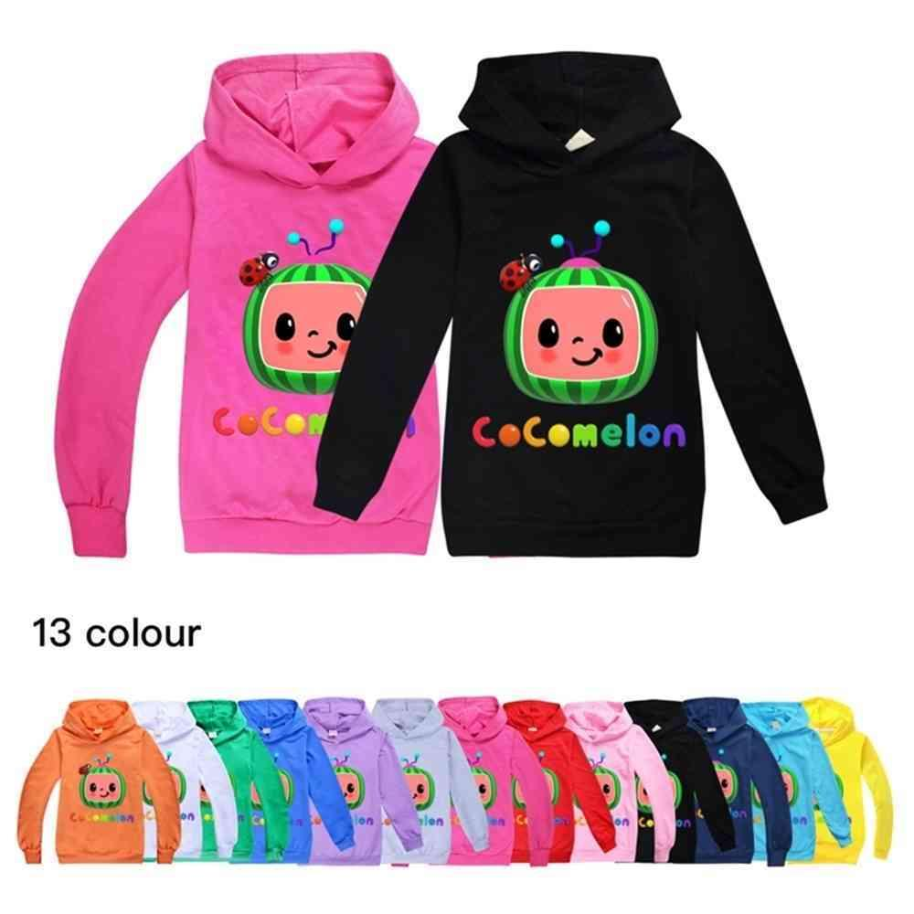 Cocomelon Baby Boys Sweatershirt Spring Autumn Unisex Hooded Hoodies Boys' And Girls' Fashion Sweater Top Casual Sports Clothing gG4988TI