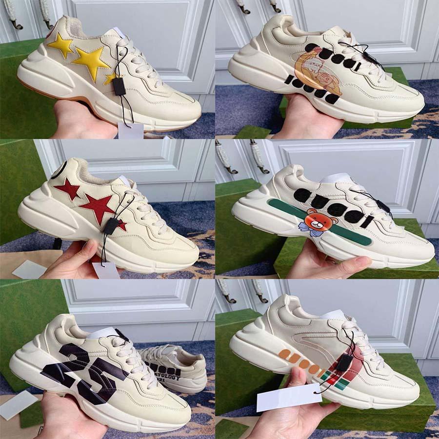 Top Quality Leather Sneaker Homens Mulheres Sapatos com Morango On Wave Boca Tigre Imprimir Treinador Vintage Home011 03