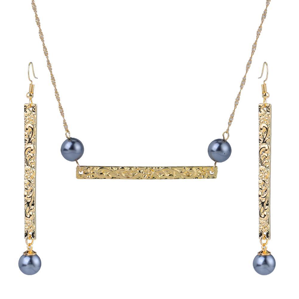 Jewelry Sets of Earrings Necklace Fashion Red Yellow Pearl Custom Polynesian Hawaiian Set Wholesale Hoop Earring