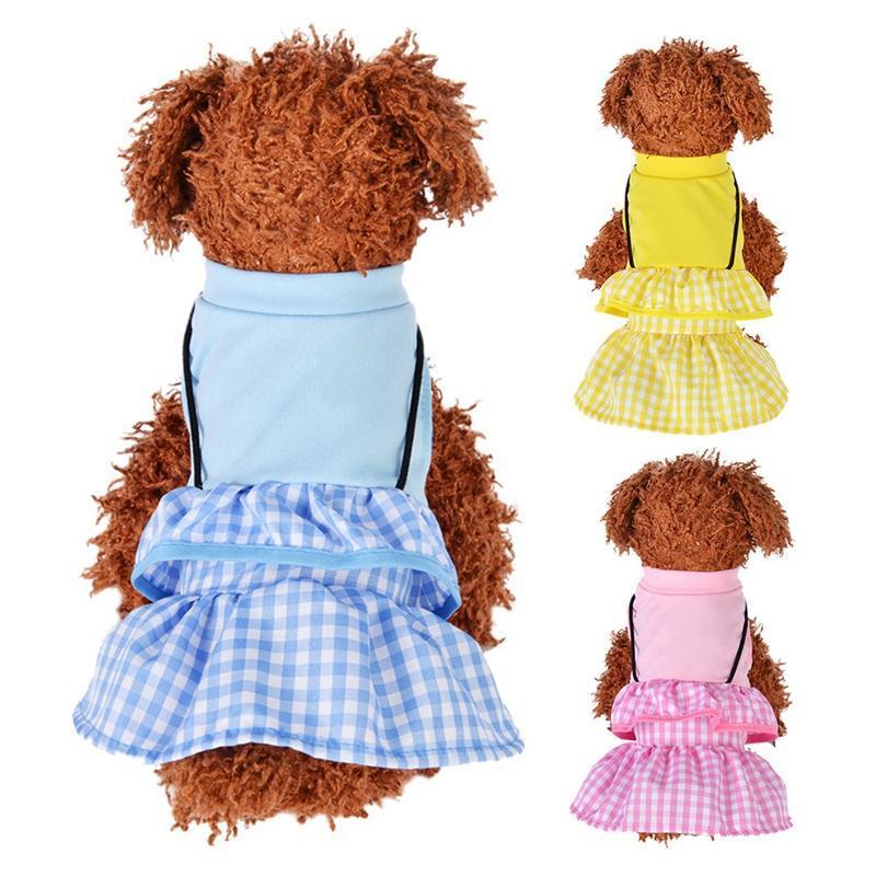Gonne di abbigliamento per cani Gonne Pet Dress per cani Principessa Vestiti da sposa Piccoli vestiti medi in cotone Sling Gonna gatto