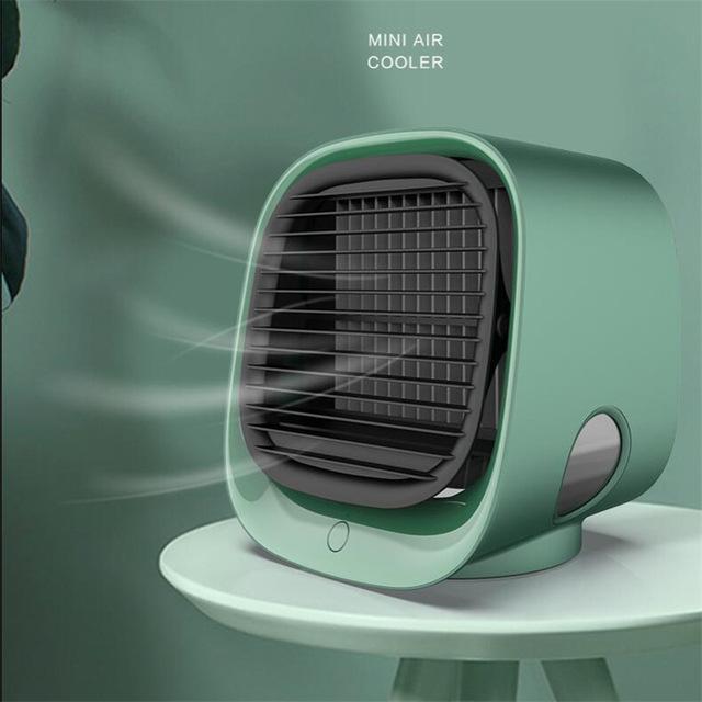 2021 mini fãs de ar condicionado portátil fãs multi-função umidificador purificador usb desktop refrigerador com tanque de água Home 5V fã