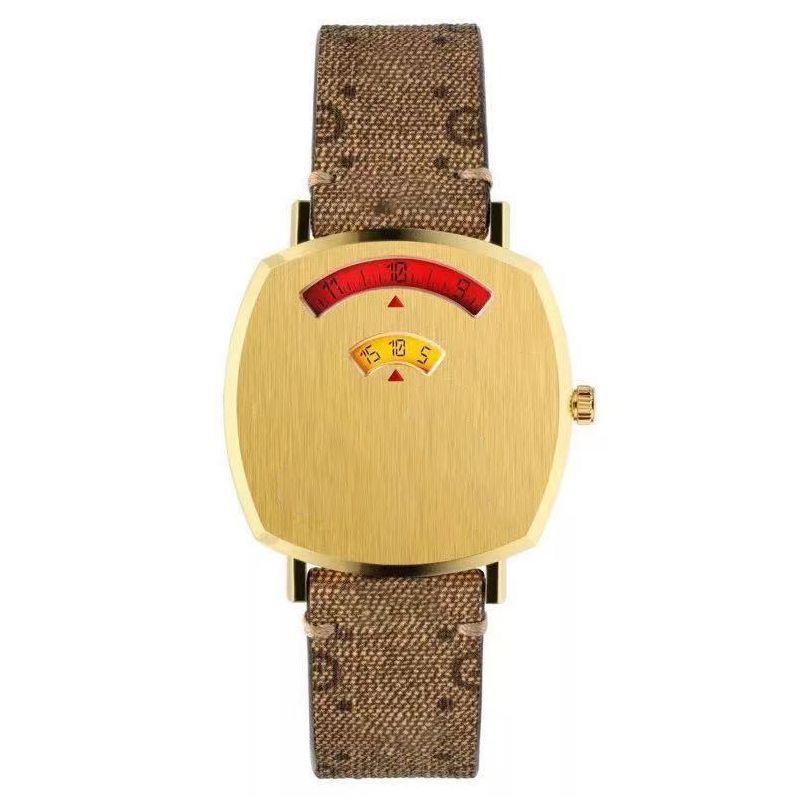 Наручные часы Классический известный дизайнерский дизайн бренда дизайн Unisex цифровые часы Усовершенствованный золотой тональный чехол мультфильм ремешок мода высокое качество женщины часы оптом