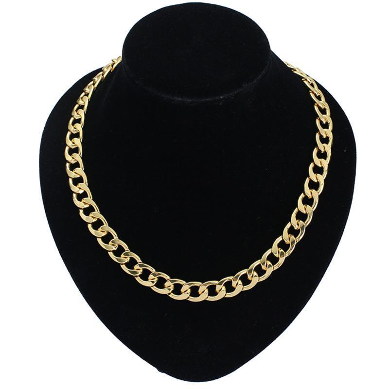 Pendant Necklaces Hip Hop Luxury Cuban Chain Necklace Gold Silver Color Metal Curb Link For Women Men Punk Neck Chokers Jewelry