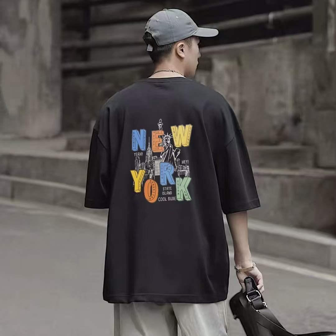 Designer Mens T Shirt Fashion Black White Tees Manica Corta Casual Hip Hop Hip Hop Streetwear Tshirsts Dimensioni M-XL ST2109