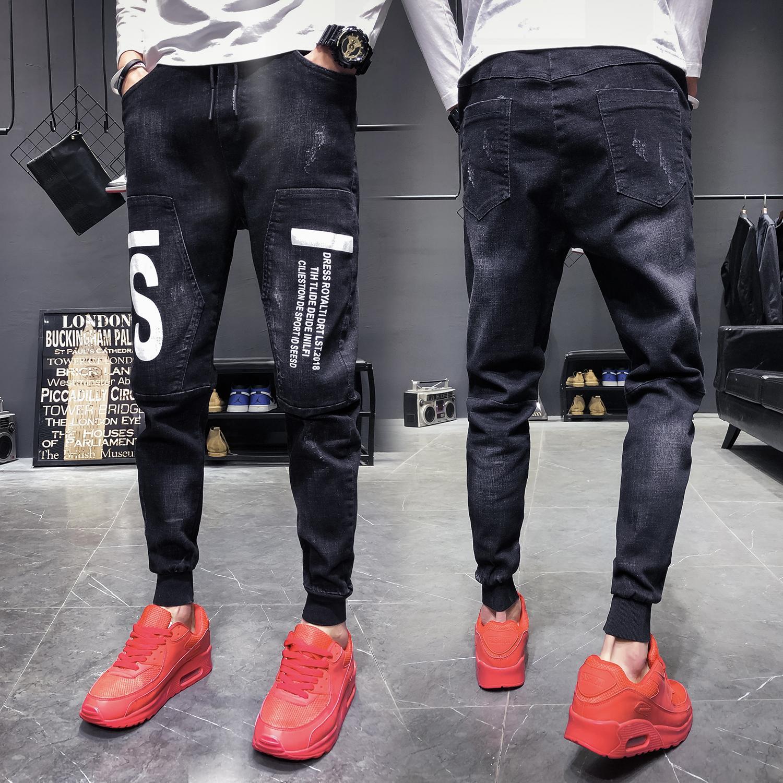 K1P4238 Age stagione nove punti Plus velluto ispessimento jeans uomo han edizione coltivare la propria moralità marea maschio adolescente per il tempo libero