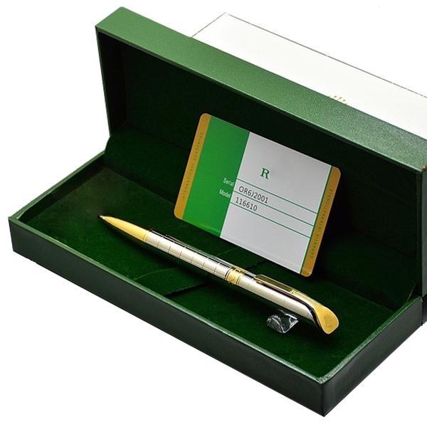 Cadeaux d'anniversaire Stylos RLX Branding Ballpoint Stylo Papetery Office School Fournitures Écrivez Smooth avec boîte Emballage