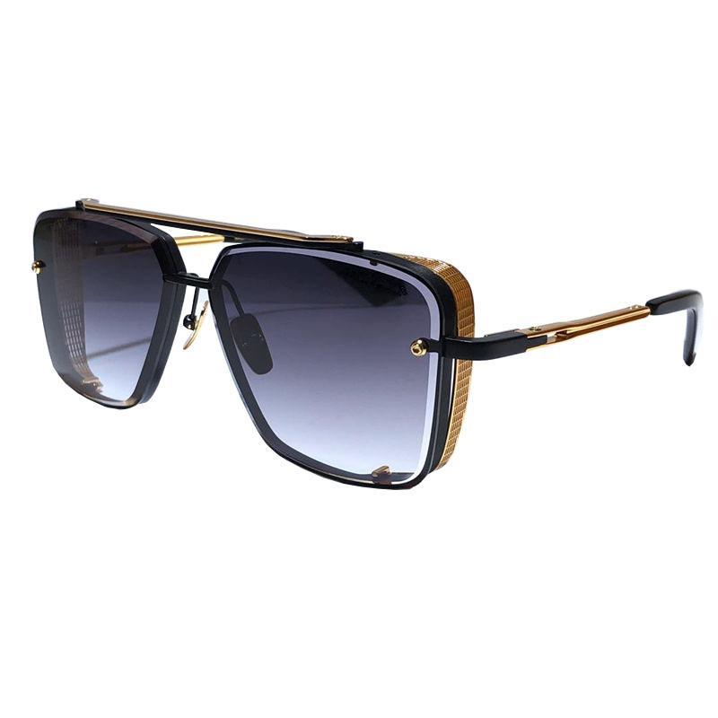 L edition m Sechs Sonnenbrille Männer Modell Metall Vintage Mode Stil Square Rrameless UV 400 Objektiv Mit Paket Guter Verkauf
