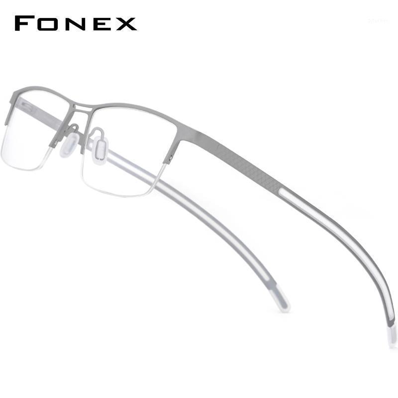 TITANIUM PRECT GRECK Brille Männer Halb Randlose Halbsplatz Brillen Rahmen Koreanische Myopie Optische Eyewear 872 Mode Sonnenbrille Frames1