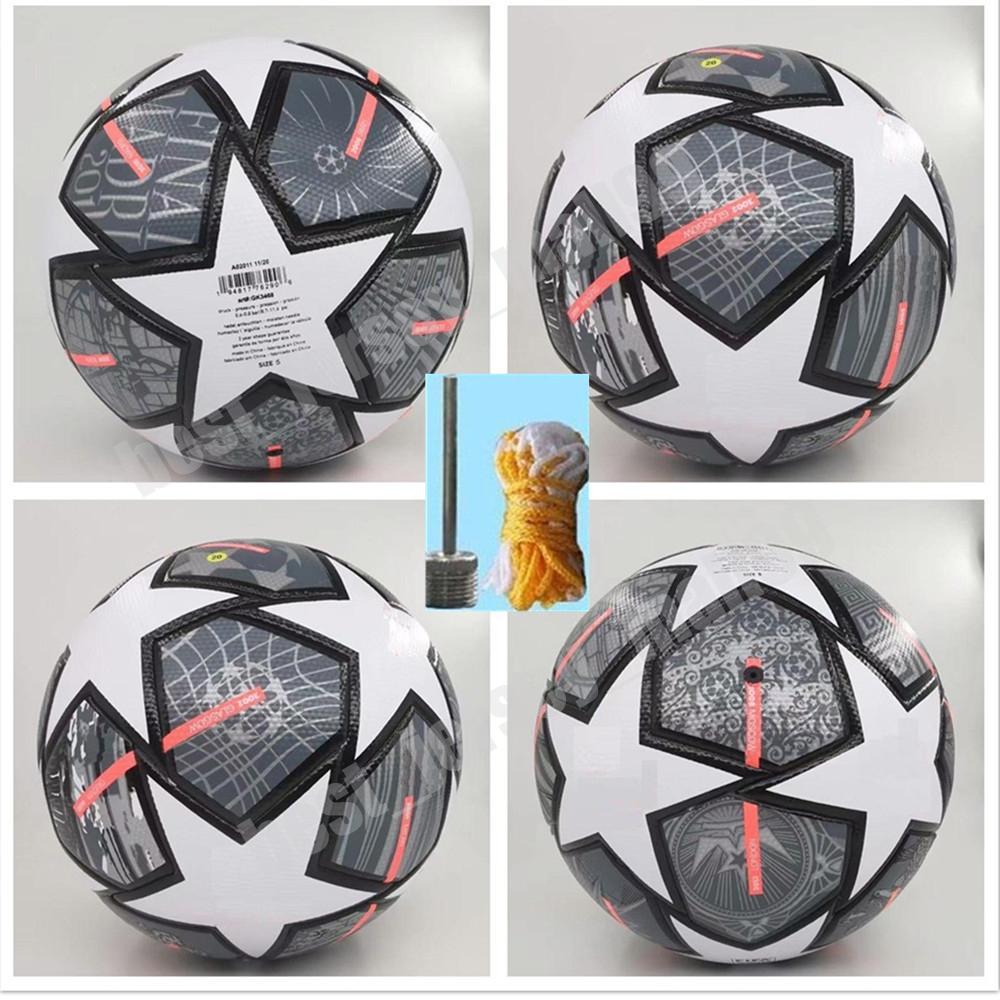 2021 Campeão Europeu Bola de Futebol 20 21 Final Kyiv Pu Tamanho 5 Bolas Grânulos Slip-Resistant Futebol