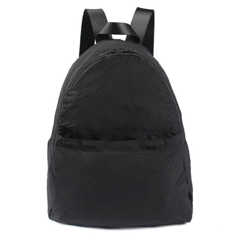 2021 الصلبة اللون عارضة حقائب النساء حقيبة الكتف نايلون فتاة مراهقة حقيبة مدرسية الاتجاه backbag Q0528