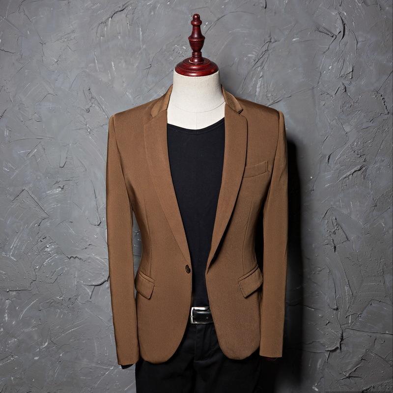 Spring Blazer Single Blazer Spring Automne Nouveau Costume Notched Veste Veste Terno Masculino Blazers pour la taille des États-Unis de mariage