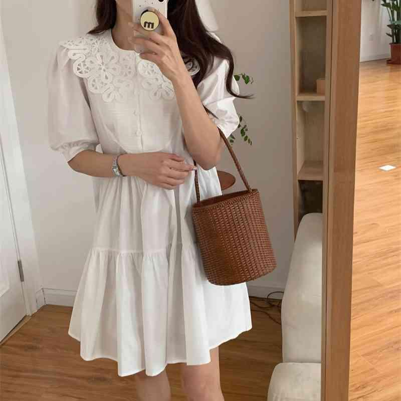 Casual Dresses Hohe Qualität Sexy Mädchen Retro Chic All Match Sommer Lose Femme Party Streetwear Prom Mini Es Vestidos Ojby
