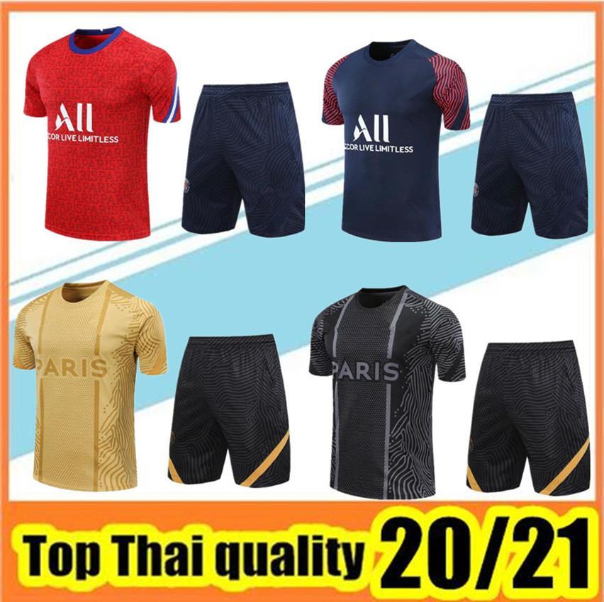 2021 uomini manica corta Tracksuit Training Tuta 20 21 T-shirt + Pantaloni Set uniforme da calcio