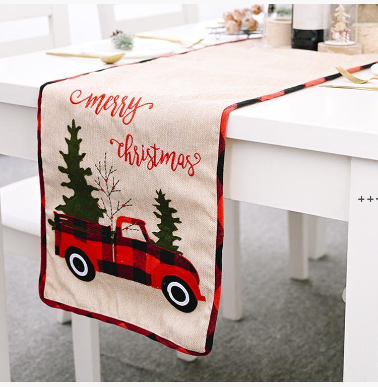جديد عيد الميلاد الجدول عداء سماط الكتان الجدول غطاء سيارة شجرة عيد الميلاد العلم الجدول اللباس سماط الأكل حصيرة عيد الميلاد ديكورات NHE8727