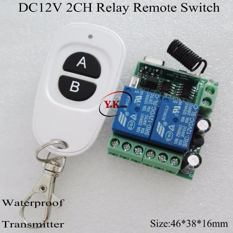 Smart Home Control DC 12V 2 CH Channel Relay 10A Wireless Switch ASK Learning Independently For Box Broadlink 315 433 NO COM NC