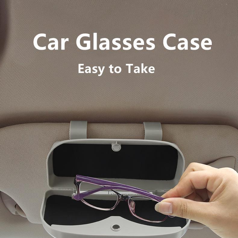 자동차 안경 케이스 선글라스 스토리지 박스 3 색 자동 인테리어 액세서리 홀더 태양 바이저 자동차 39mm 두께 기타