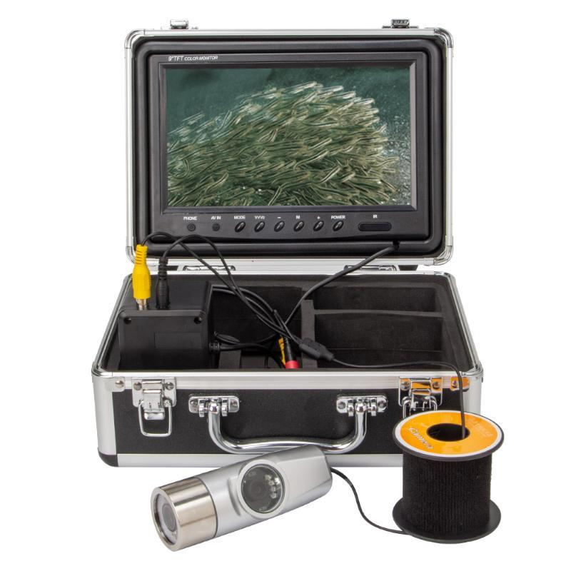 """Cámara dual HD 1000TVL Finder de peces bajo el agua Video para Pesca 9 """"Monitor IR LED Fishfinder IP Cámaras IP"""