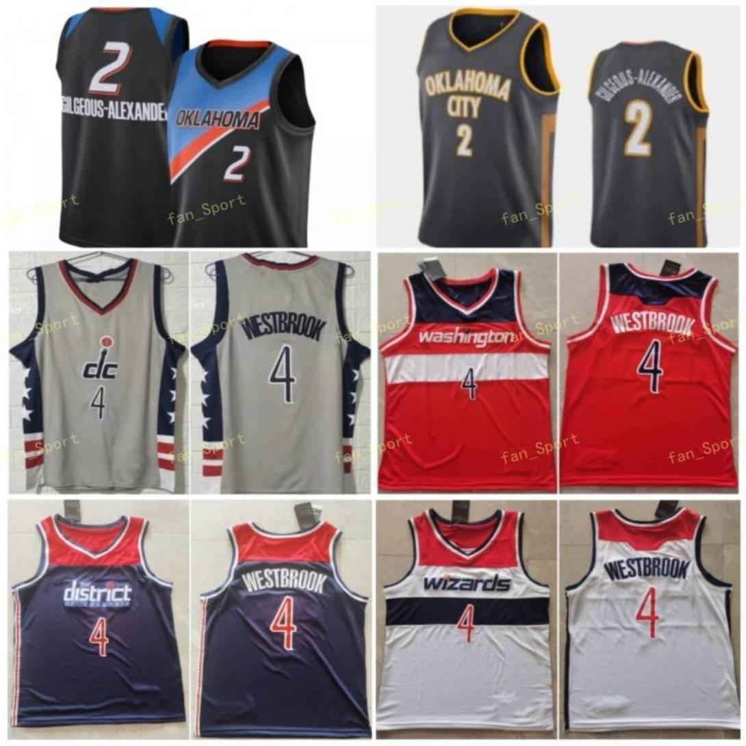 Şehir Kazanılan Sürüm Shai 2 Gilgeous-Alexander Basketbol Formaları Bradley 3 Beal Russell 4 Westbrook Erkekler Dikişli Boyut S-3XL
