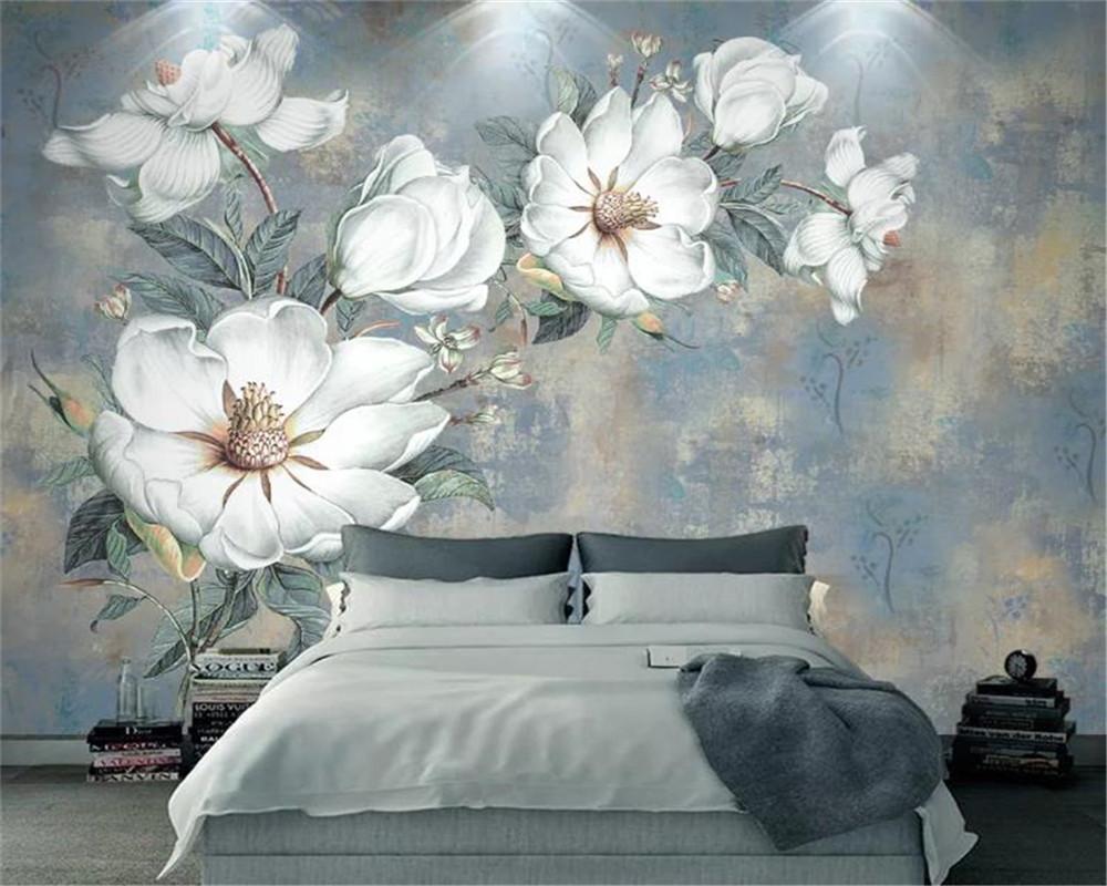 3D обои старинные масляные живопись цветок европейский стиль абстрактная гостиная спальня кухня росписи обои настенные