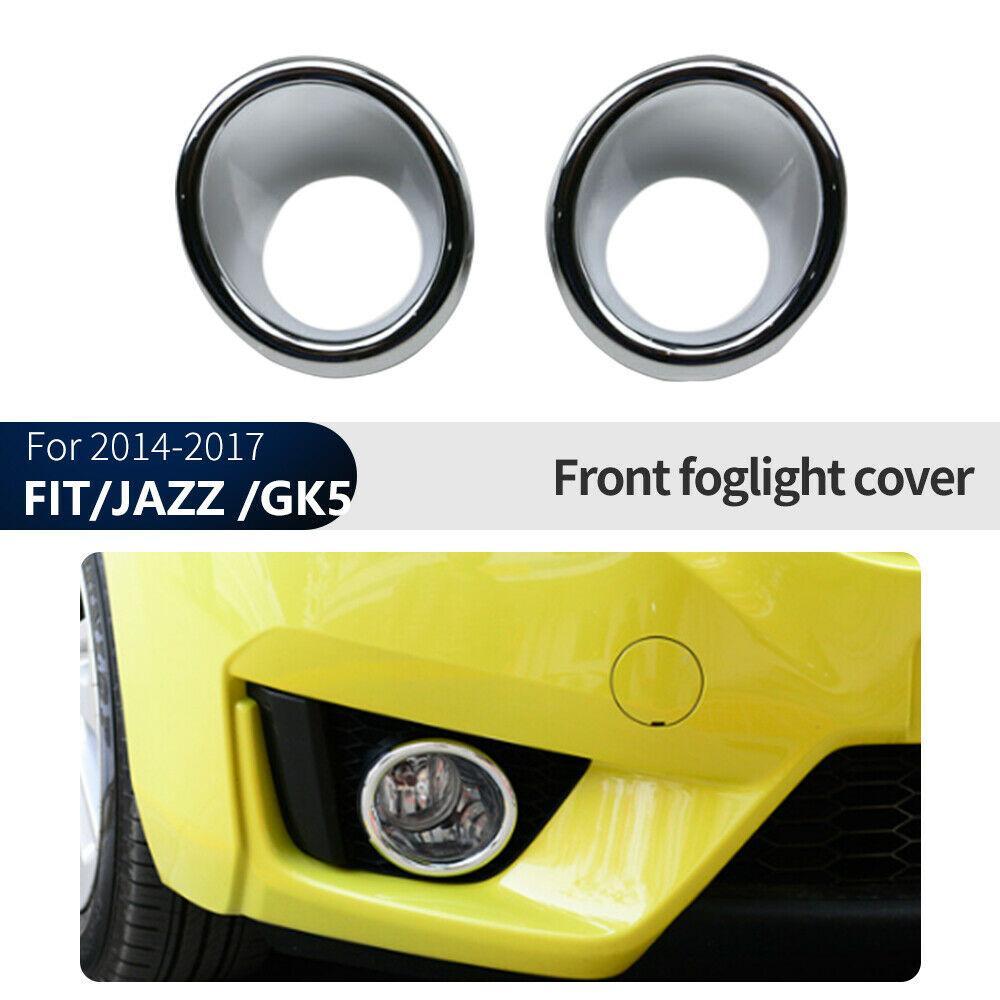 Pour Honda Fit / Jazz / GK5 2014-2017 Chrome Front Fog Lampadaire