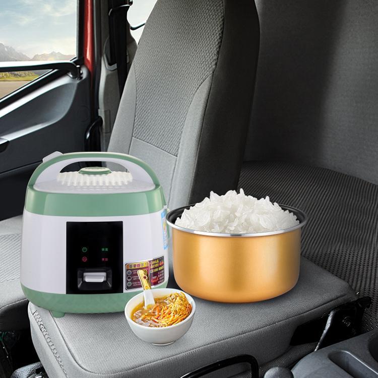 Viagens arroz Fogão 24V Elétrico 3L Lancheira Removível Potenciômetro Manter Função Quente Cozinhar Sopa, Arroz, Guisadores, Grões e Aveia