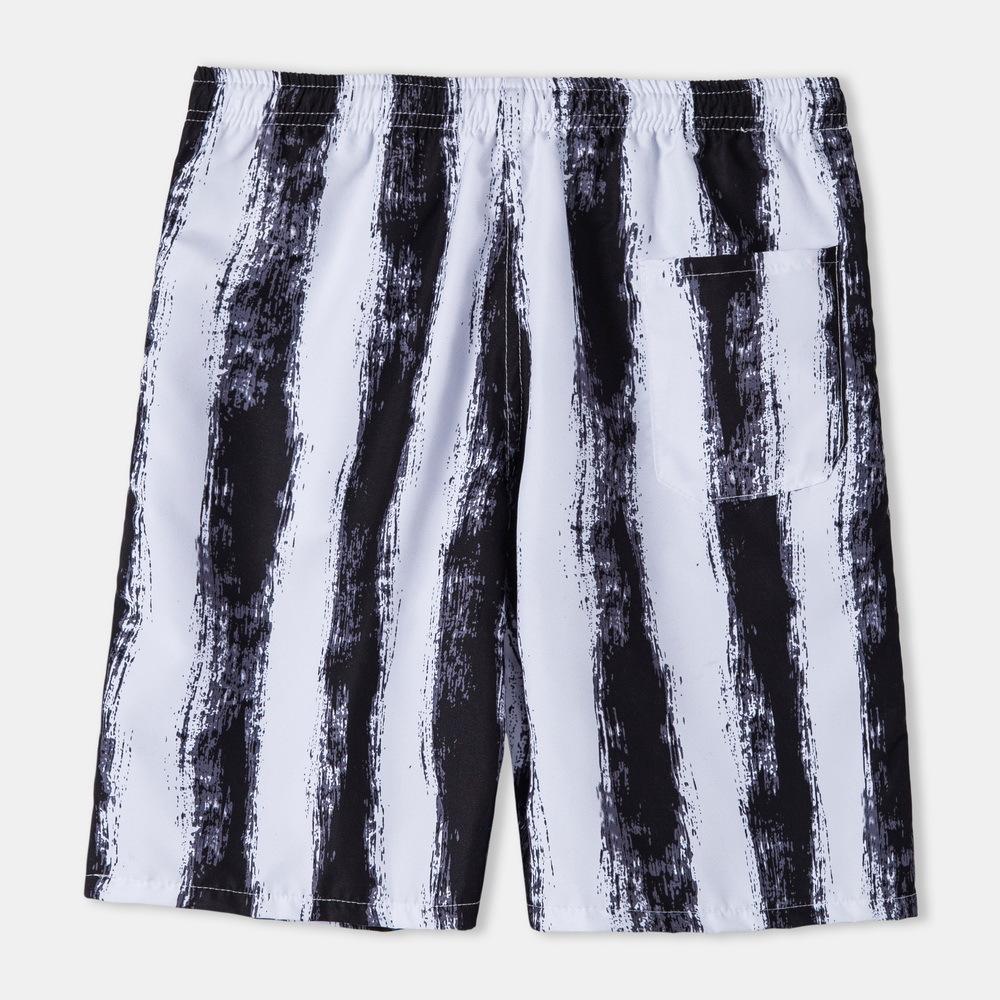 Erkek Şort Moda Düz Bacak Rahat Gevşek Yaz Beş Noktası Pantolon Yüksek Kalite Trend Baskı Plaj Pantolon