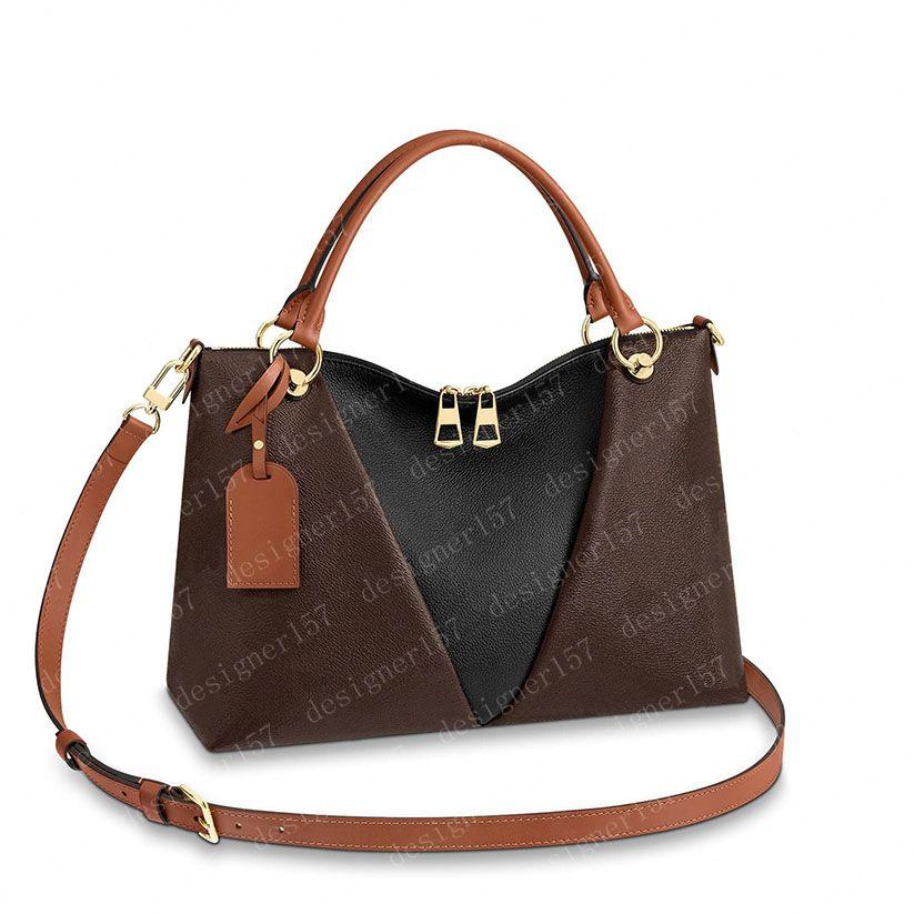 2021 Tote Bag Handtasche Totes Womens Rucksack Frauen Geldbörsen Braune Blume Leder Kupplung Mode Brieftasche Taschen 43948 36/27 / 16 cm # CP01
