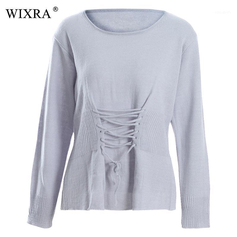 Wixra pullover pullover o-neck lässig hübsche solide pullover gestrickt 2018 herbst winter frauen top kleidung1