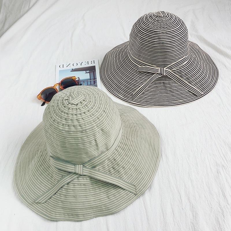 Bucket chapéu chapéu praia praia viajar versátil crianças palha uv capa verão