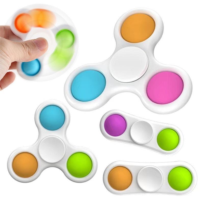 Los estilos más nuevos Fidget Spinner Sensory Simple Dimple Toys regalos adulto niño divertido antiestrese pop dedo hilanders estrés reliver empuje burbuja juguete