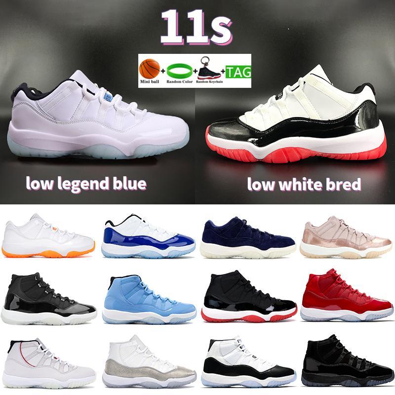 الرجال 11 11 ثانية الذكرى ال 25 أحذية كرة السلة منخفضة الأسطورة الأزرق الحمضيات الأبيض بلأ كونكورد بانتون كاب و ثوب رجل أحذية نسائية