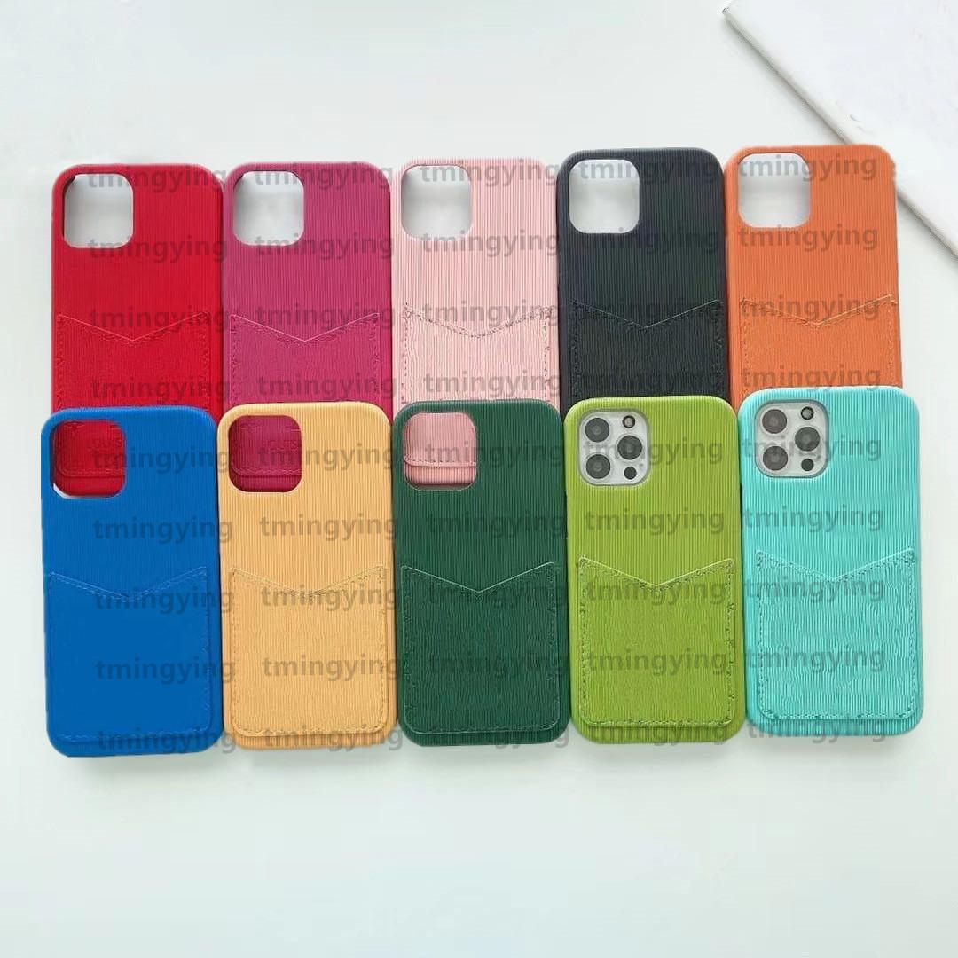 Designer di lusso Custodie telefoniche per iPhone 12 Pro Max XS XR x 11 8 7 Plus Samsung S20 S21 NOTA 20 Fashion Print Case card Holder Cover