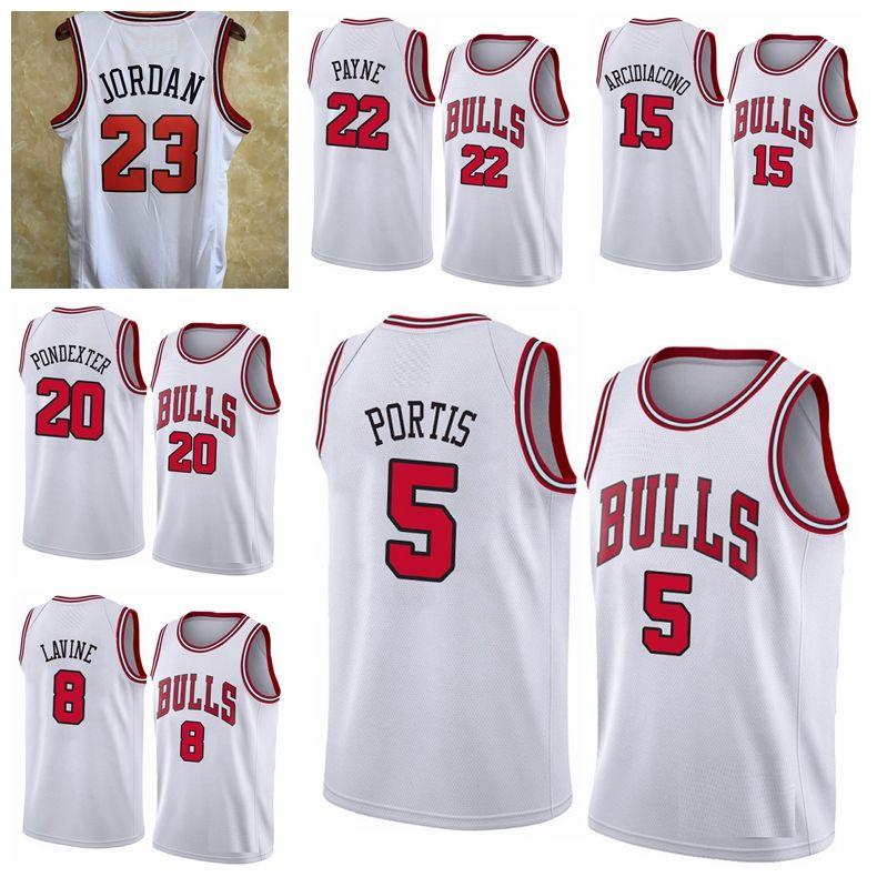 2021 personnalisé al Farouq 5 Aminu Adam 20 Mokoka Hommes Michael Jor Dan 23 Zach Lavine 8 Coby 0 Blanche Blanc Jersey de basketball
