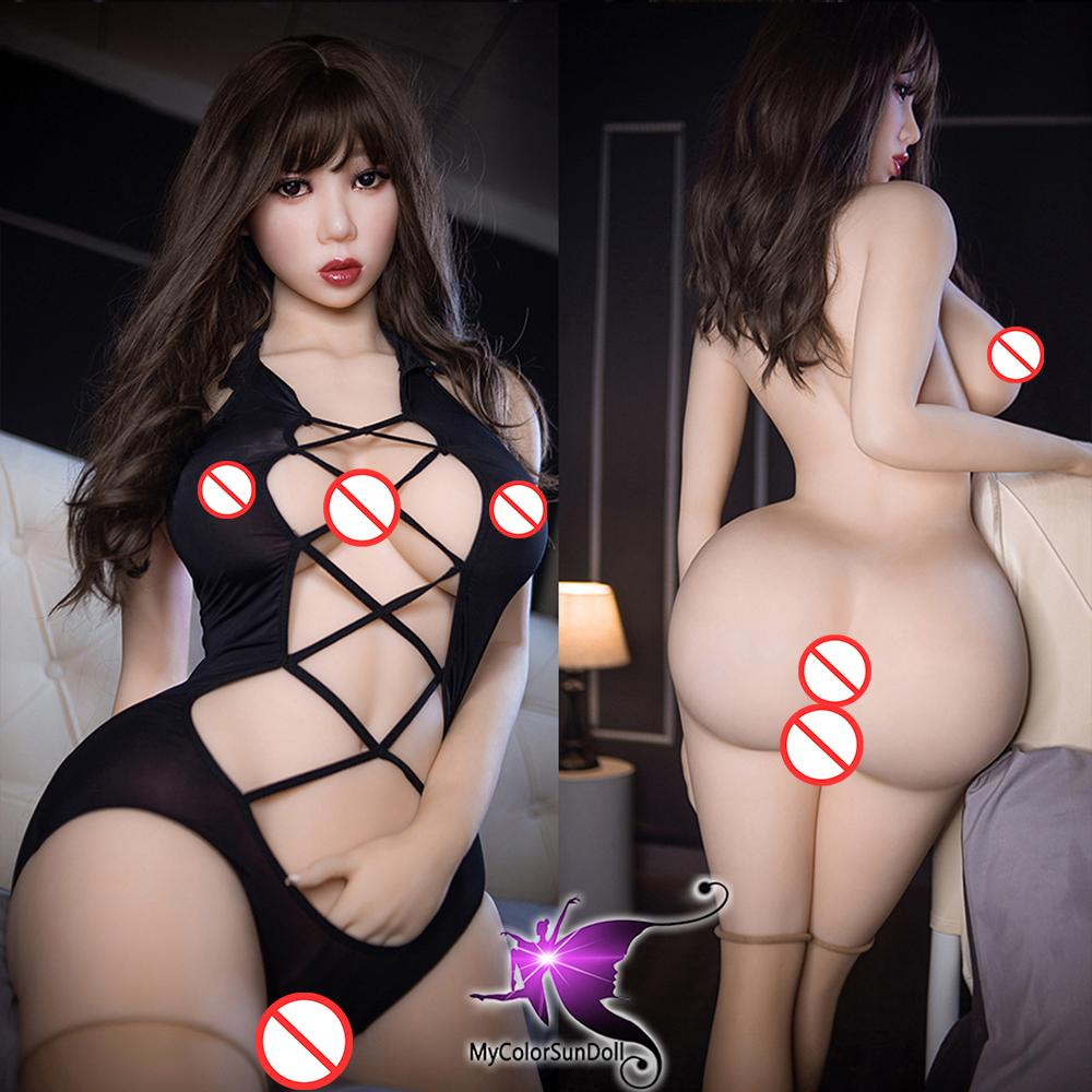161cm Japonés Real Silicona Muñecas de sexo para hombres Realista Masturbador de pechuga grande Vagina Coño Adulto Juguetes Sexy Juguetes Metal Skeleton Muñeca