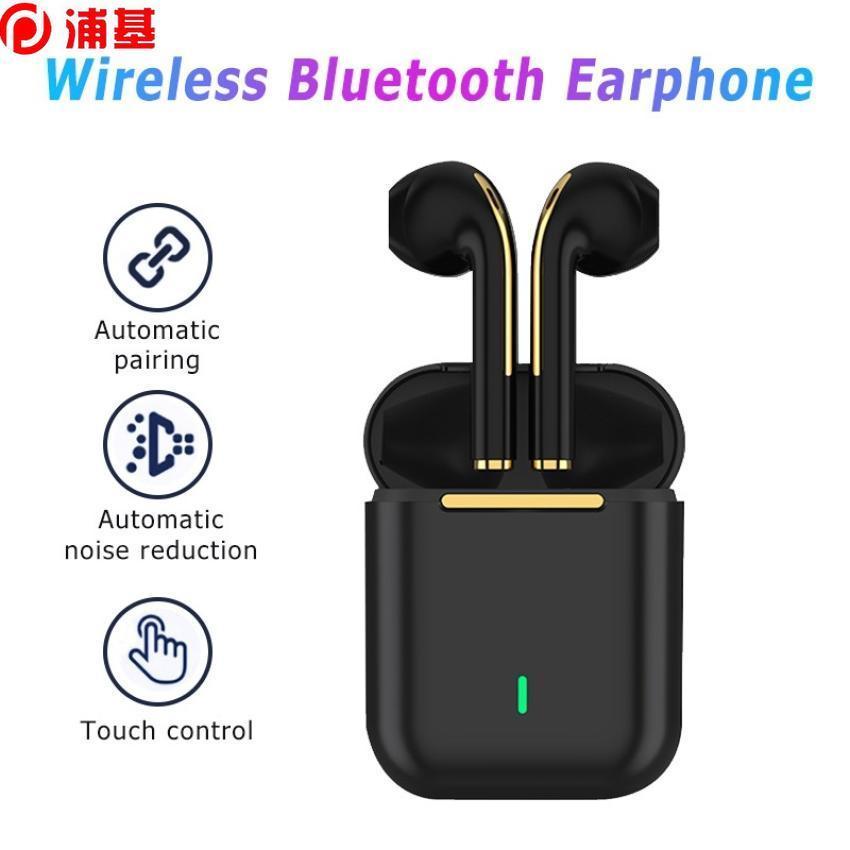 J18 TWS Casques Bluetooth Stéréo Vrai Casque sans fil Écouteurs à l'oreille Gardenfree Écouteurs Écouteurs Tour d'oreille pour téléphone mobile