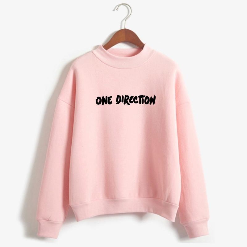 Harry Styles Hoodies Sweatshirts Frauen Harajuku Lustige Direction Letceer Print Tops Freunde Casual Fleece Rollsteck Kleidung Frauen