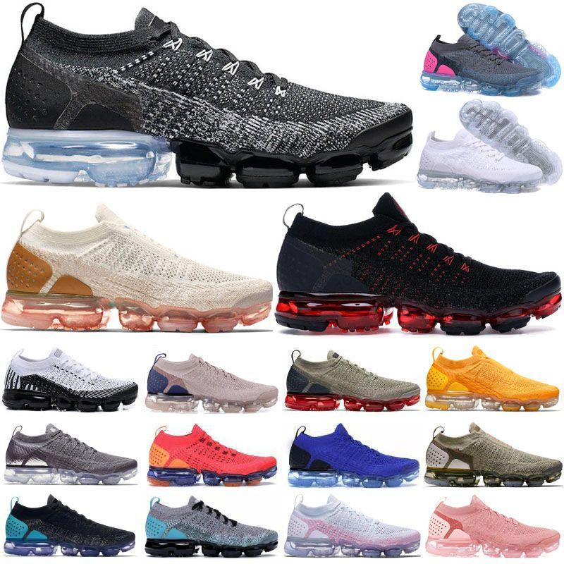 وسادة متماسكة 2.0 فائدة الرجال النساء الاحذية يطير 1.0 الثلاثي أسود أبيض رياضي كلاسيكي المشي لمسافات طويلة الركض المشي المدربين تشغيل أحذية رياضية