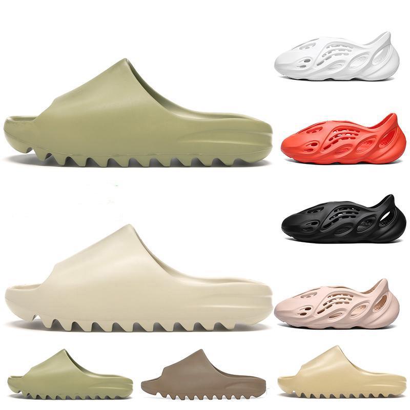 Pantofole da uomo a buon mercato Pantofole di osso Schiuma Corridore Kanye Desert Sand Resin Beach Donne Donne Diame Slifts Sandalo sandalo sandalo